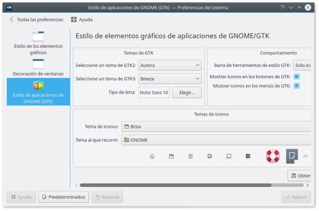 kubuntu 16.04 estilo aplicaciones gtk